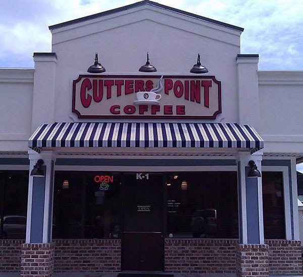 Cutters Point Coffee Sign