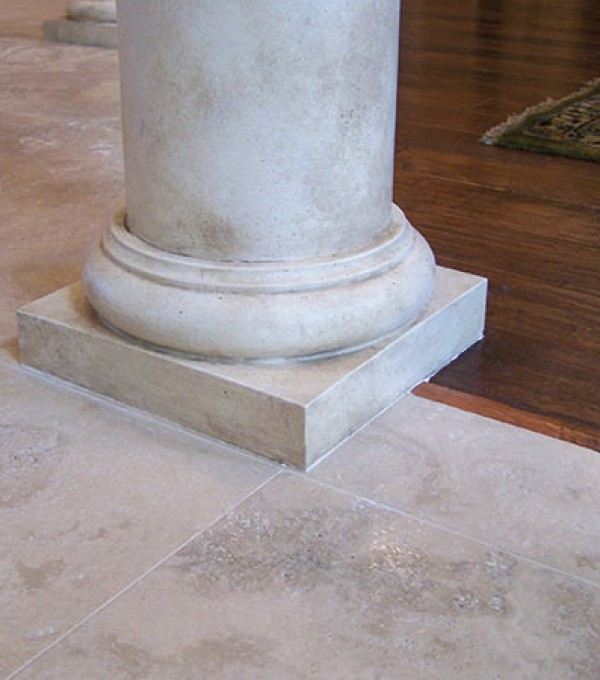 Faux Travertine Column