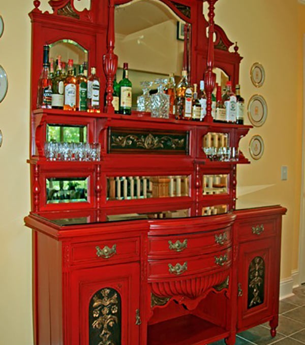 Refinished Antique Hutch