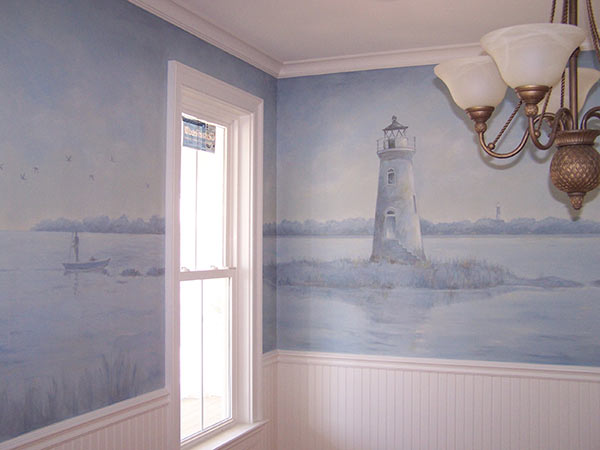 Cockspur island lighthouse mural for Cn mural designs