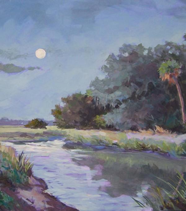Moon Over Wormsloe