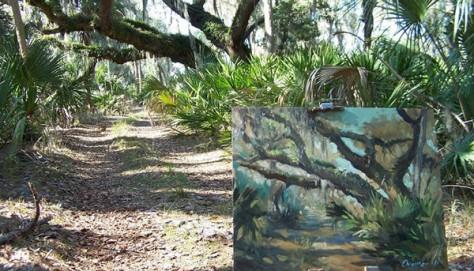 Plein Air (the open air) painting